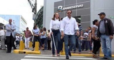 Alcaldía de Santiago deja en funcionamiento cruce automatizado para no videntes