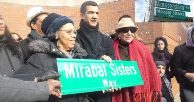 Con ausencia de familiares y funcionarios develizan rótulo en memoria de las Mirabal en el Alto Manhattan