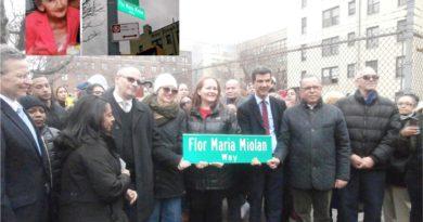 Exiliada anti trujillista Flor María Miolán honrada con rótulo a intersección en el Alto Manhattan