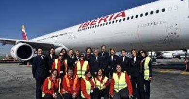 Vuelo de Iberia con destino a SD es atendido en su totalidad por mujeres