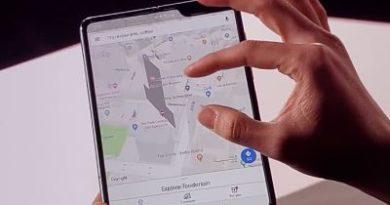 Samsung patenta un nuevo móvil plegable que se doblaría al contrario que el Galaxy Fold