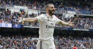Benzema logró tres goles para el Real Madrid