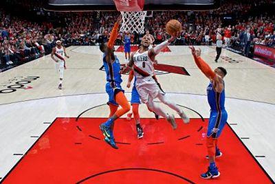 Los Blazers se ponen 2-0 ante el Thunder apoyados en 29 puntos de Damian Lillard