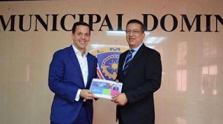 PRESENTA: Hugo Beras propuesta al secretario general de la Liga Municipal Dominicana