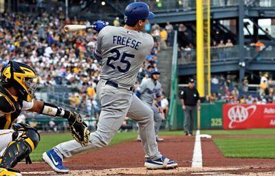 Freese aporta grand slam en paliza de Dodgers sobre Piratas
