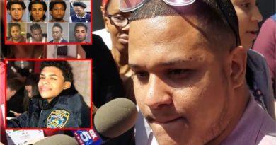 """Hermano de Junior califica como """"hienas"""" a trinitarios acusados por el asesinato en apertura del juicio"""