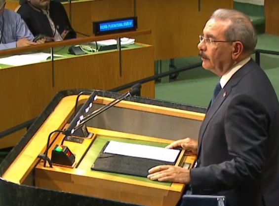 Danilo Medina hablará ante asamblea general Naciones Unidas