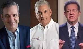 Abinader gana la Presidencia; lo felicitan Leonel y Gonzalo Castillo
